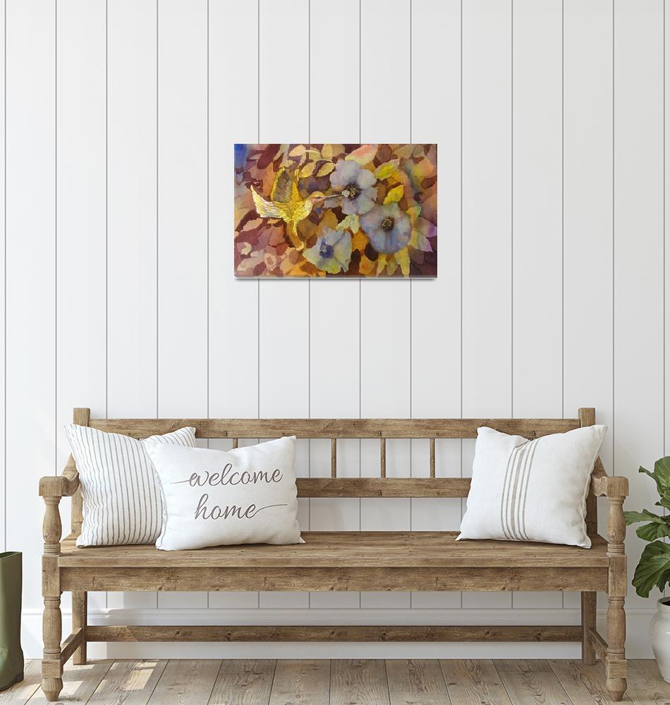 """Busy Hummingbird by Sonya P.""  (1994) by flowerswithfeelings"