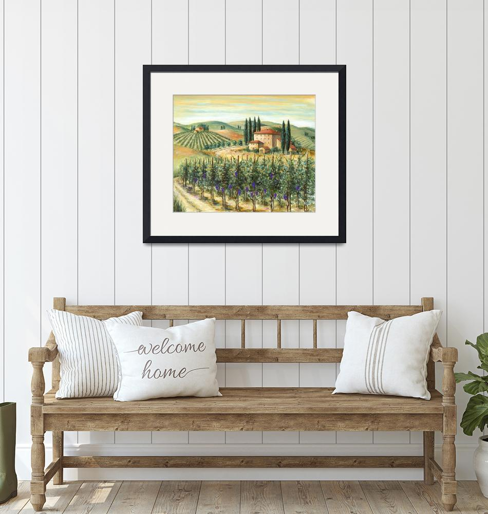 """Tuscan Vineyard and Villa""  (2012) by marilyndunlap"