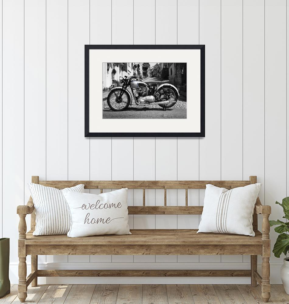 """""""The 1939 Tiger T100 Vintage Motorcycle""""  by mark-rogan"""