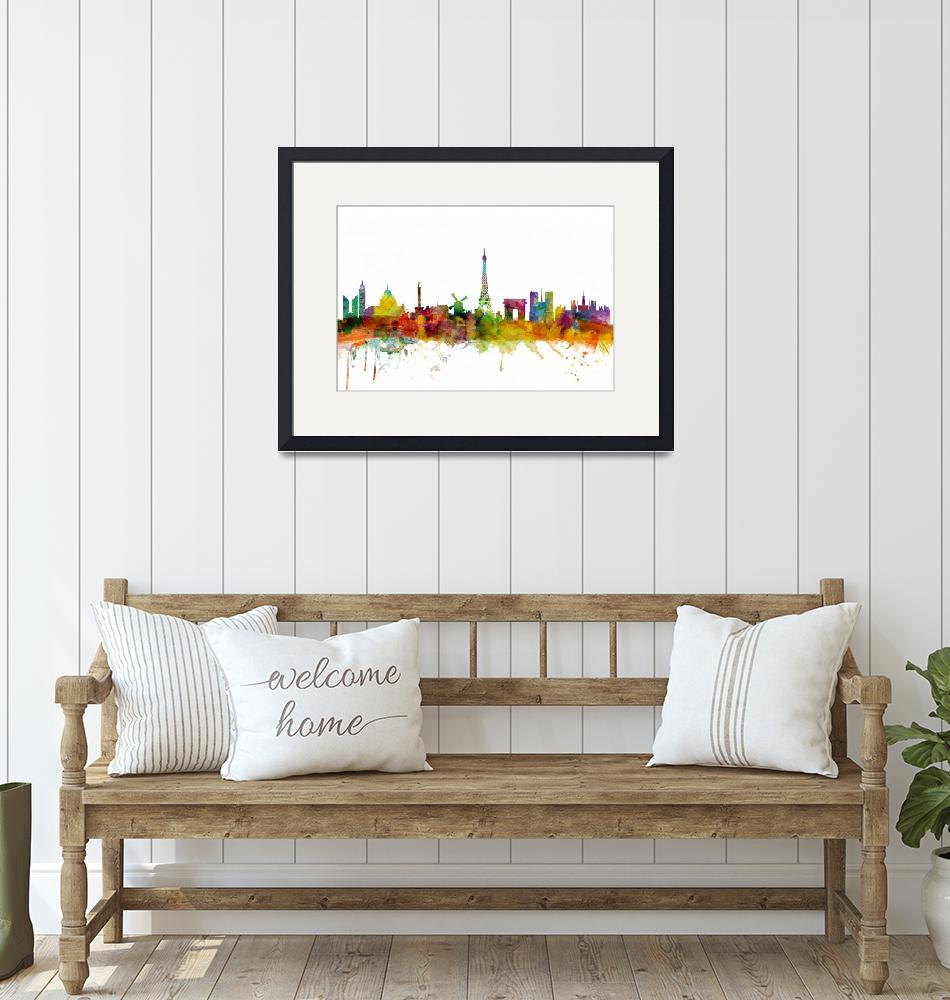"""Paris France Skyline""  (2013) by ModernArtPrints"