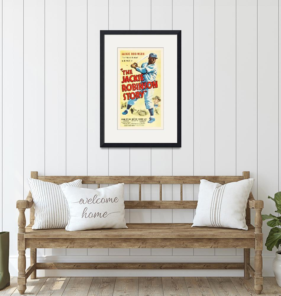 """The Jackie Robinson Story Vintage Movie Poster""  by FineArtClassics"