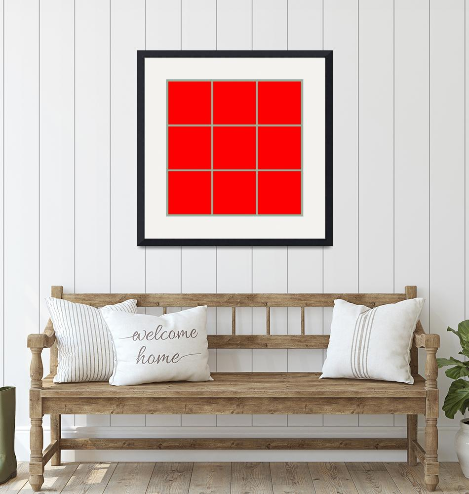 """""""Red Window 124 Canvas Contemporary Modern""""  (2010) by Ricardos"""
