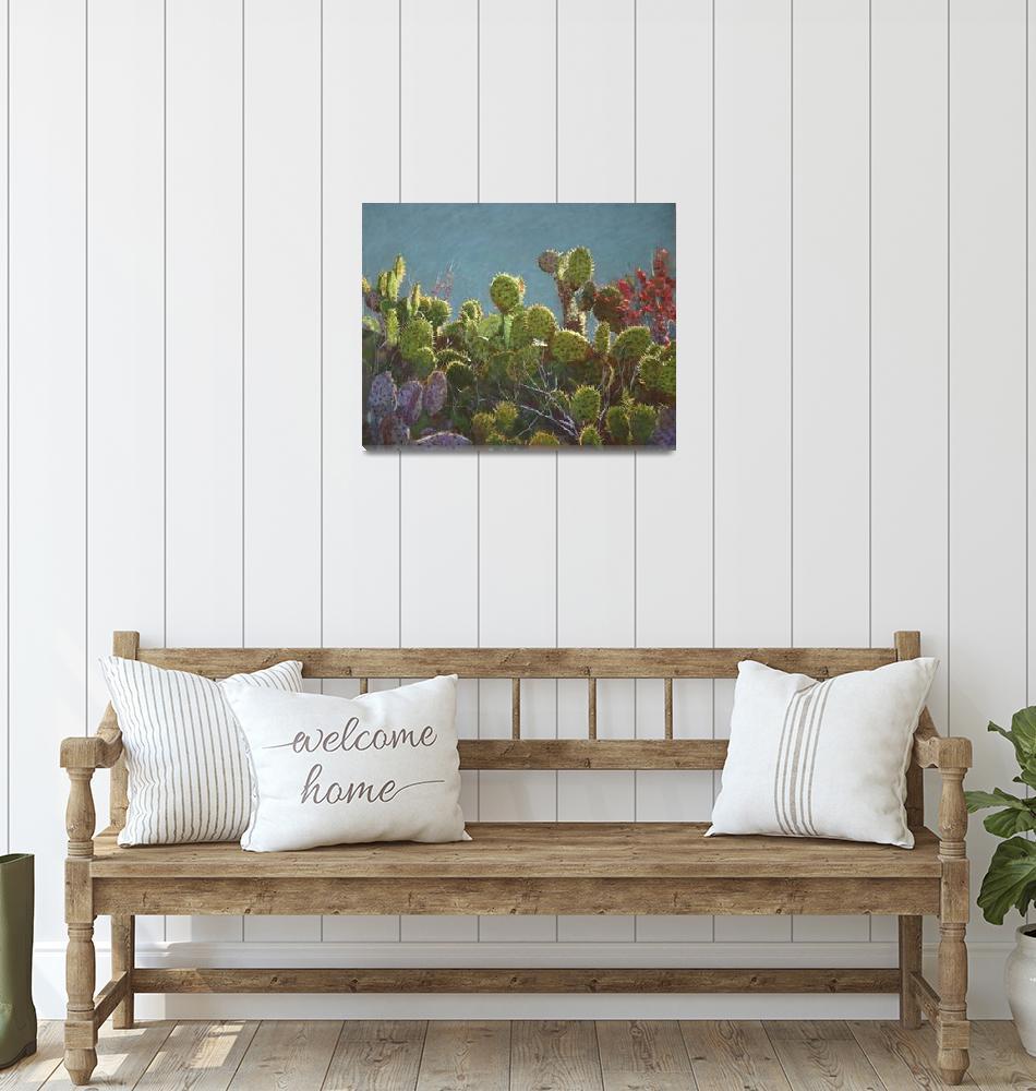 """Newport Bay Cacti""  (2016) by LDWhite"