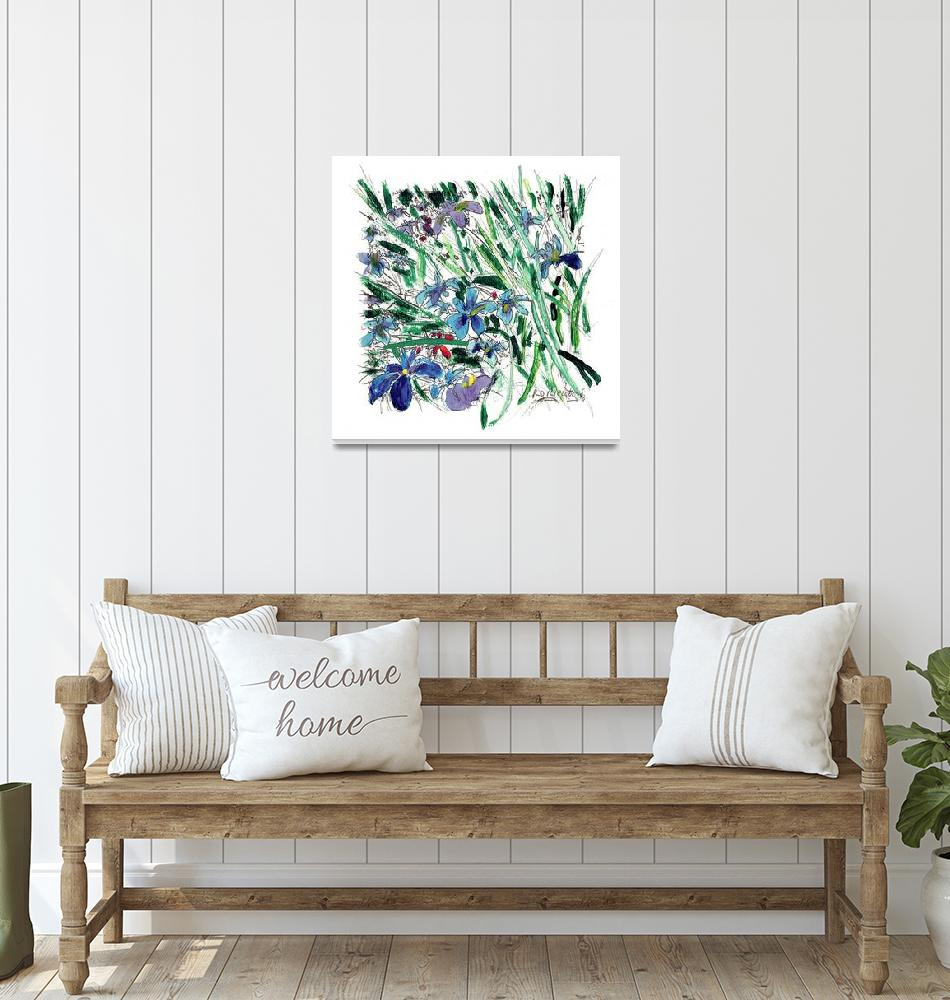 """Blue Iris in the Garden""  (2007) by RDRiccoboni"
