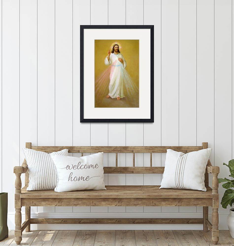 """""""Jesus Christ the Savior painting Catholic Pictures""""  (1910) by Maggy"""