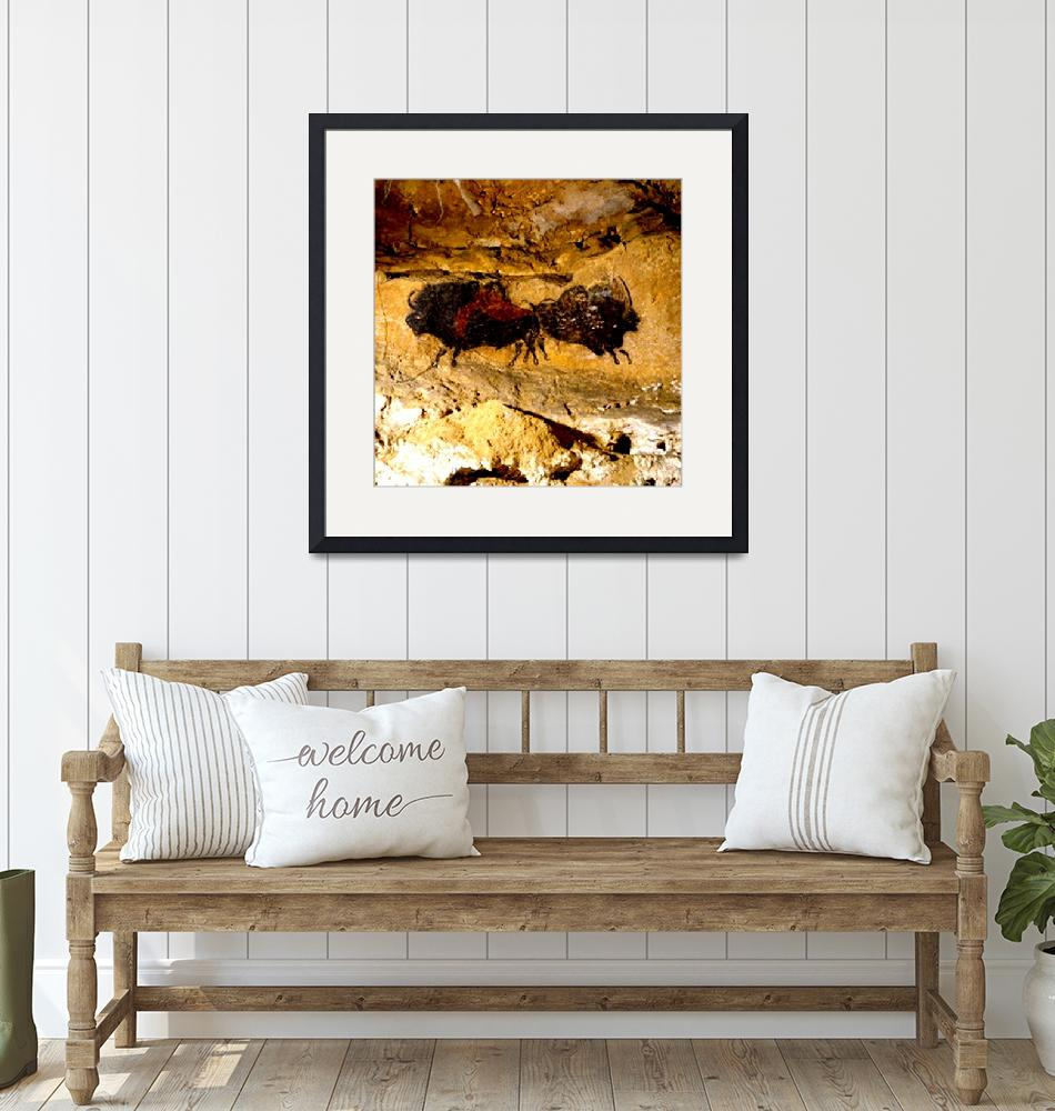 """""""2 Buffalo Lascaux Cave SE France""""  (2014) by TheNorthernTerritory"""