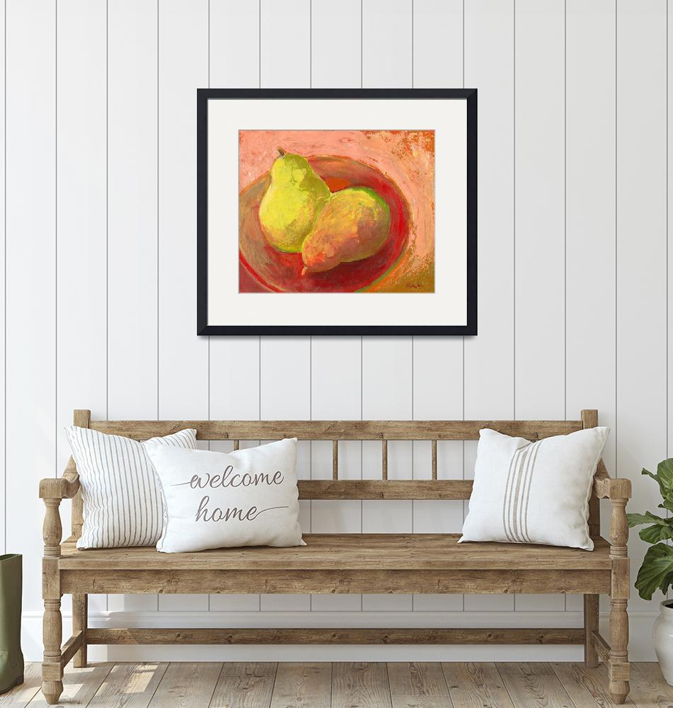 """Two Pears in Repose""  (2009) by JENLO"