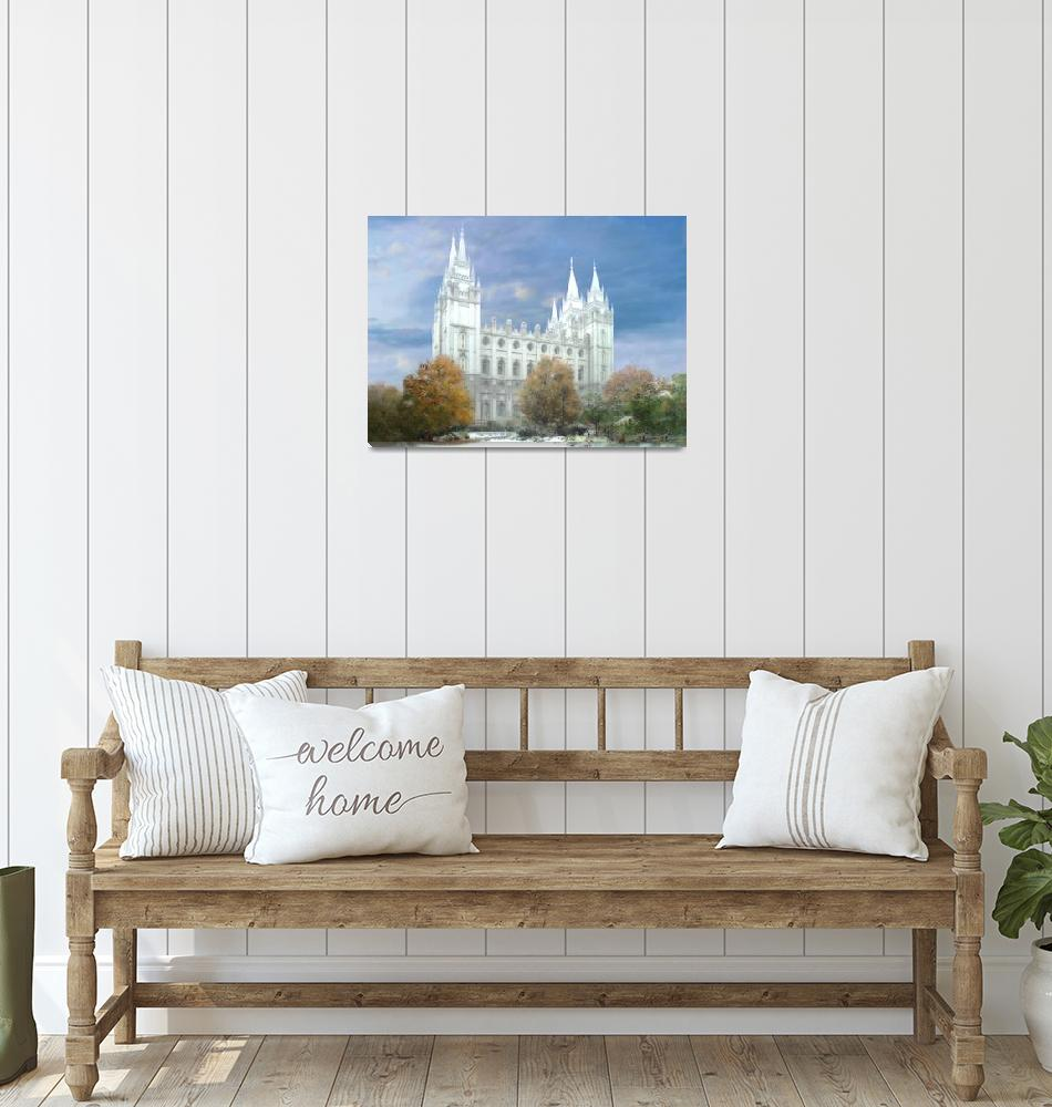 """Salt Lake Temple / Winter""  by TerrySpringer"