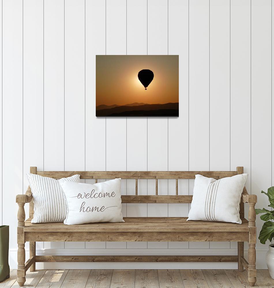 """Ballooning at Dawn""  (2009) by raftergood"