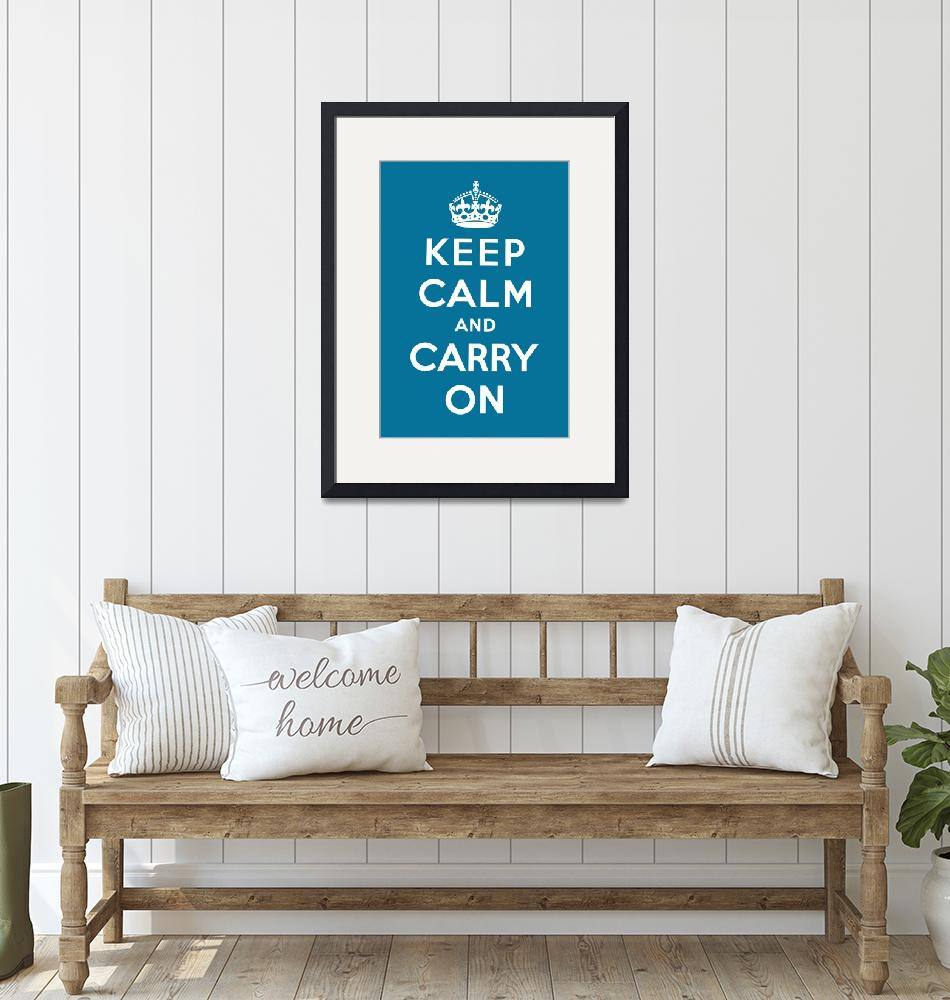 """""""Blue Keep Calm And Carry On 4""""  by oldies"""