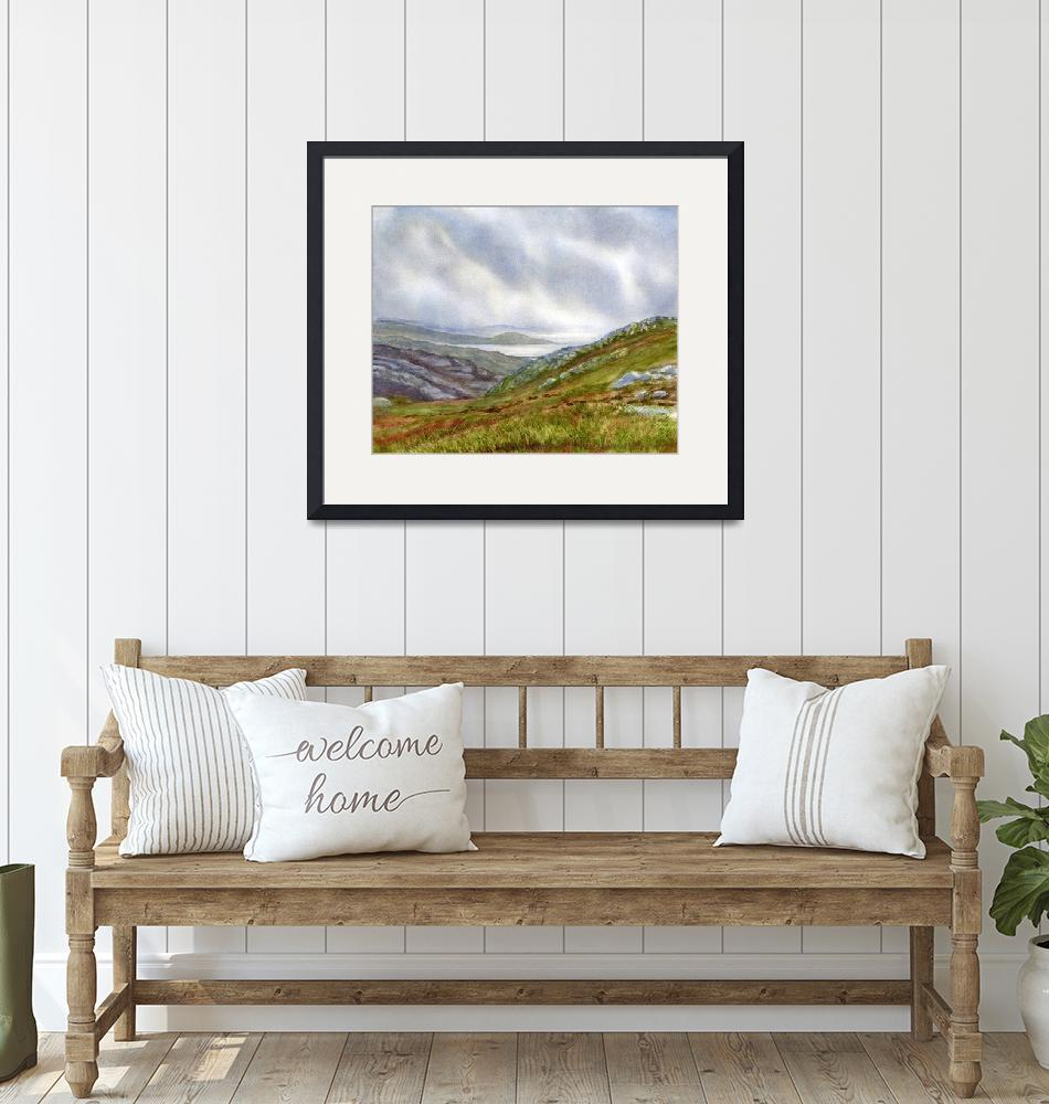 """""""Misty Coast Northwest Scotland""""  (2017) by Pacific-NW-Watercolors"""