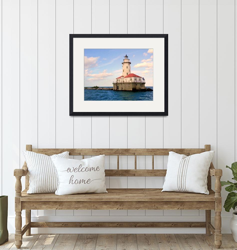"""""""The Chicago Harbor Lighthouse Collection - Calm Wa""""  (2014) by nicoleowen"""