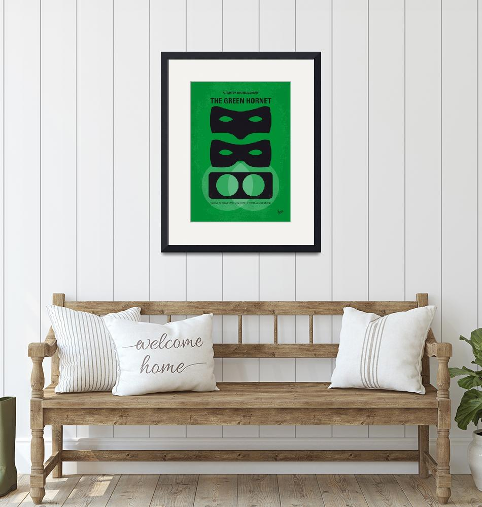 """""""No561 My The Green Hornet minimal movie poster""""  by Chungkong"""