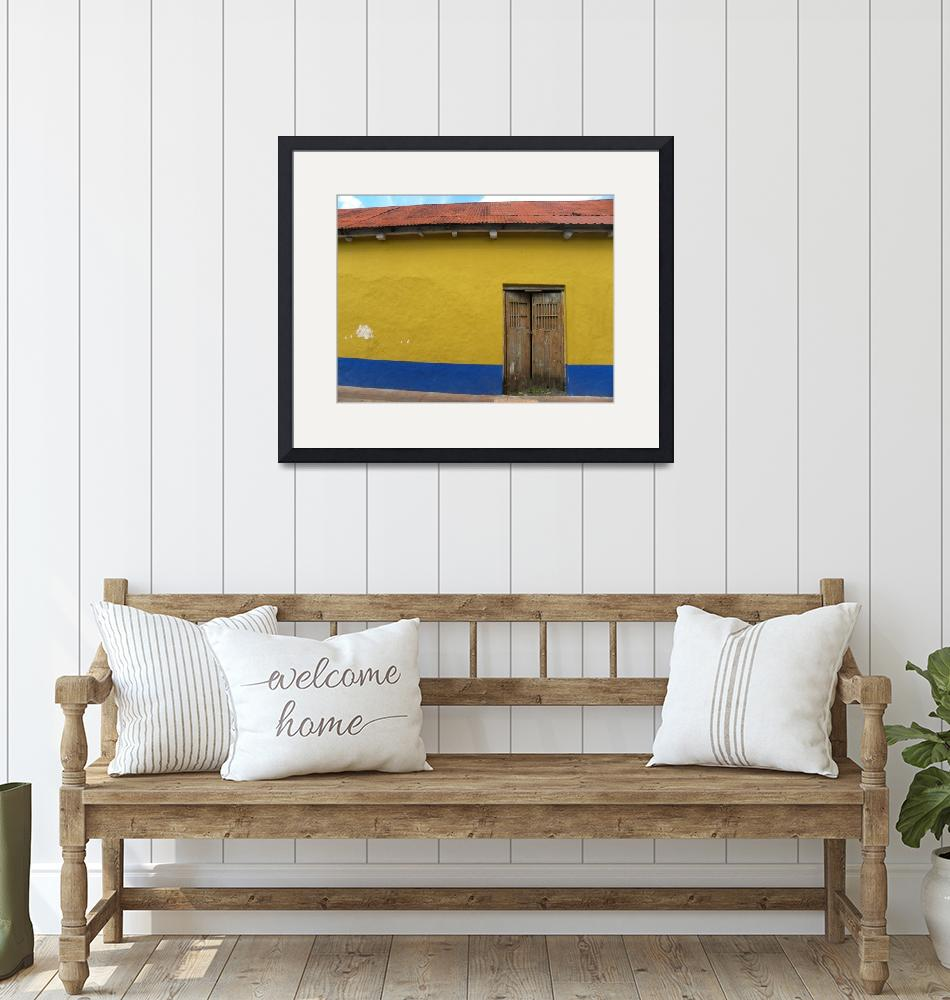 """""""Red Yellow Blue Mexican Wall""""  (2010) by orincassill"""