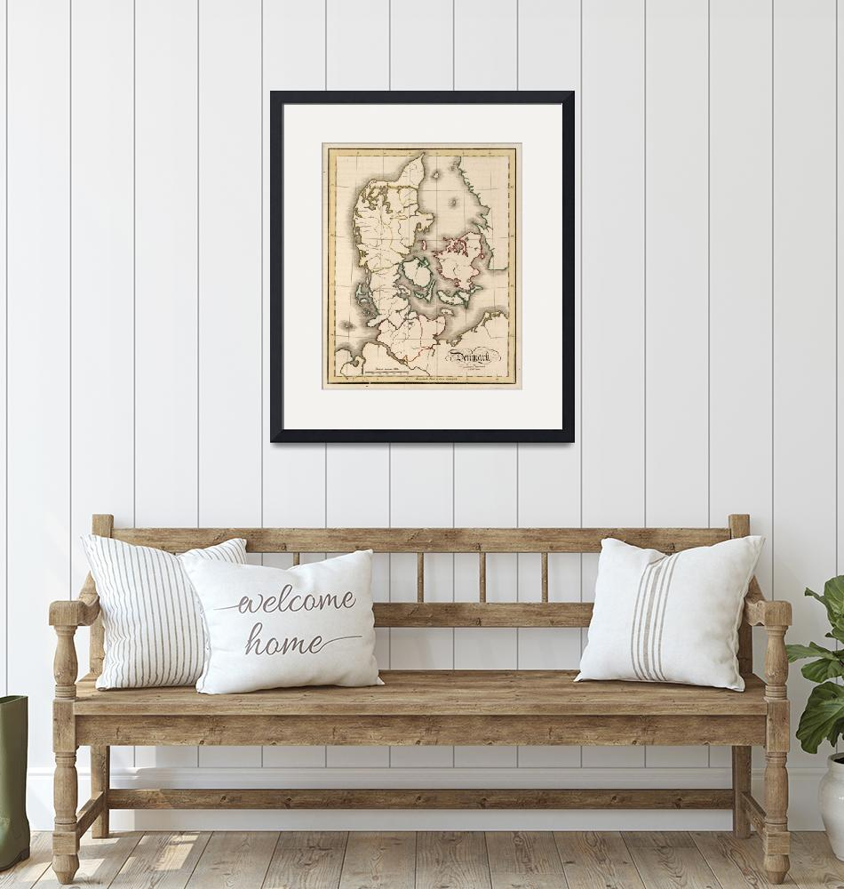"""Vintage Map of Denmark (1815)""  by Alleycatshirts"