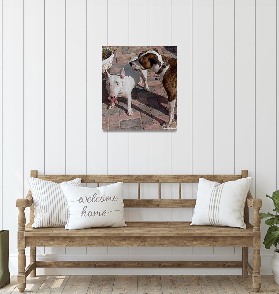 """""""Georgia and dog2""""  by jfrangipane"""