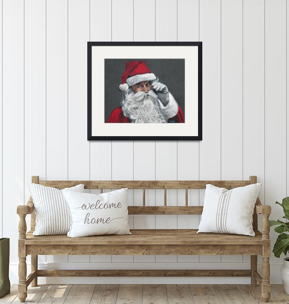 """Original drawing of Santa Claus"" (2018) by yuezeng"