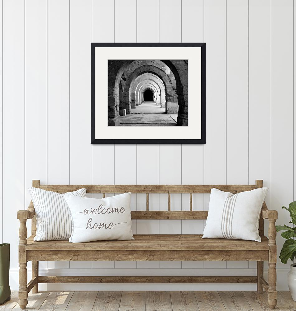 """""""Archways To Infinity (B&W High Key Multiply Vers.)""""  (2007) by jonsheer"""