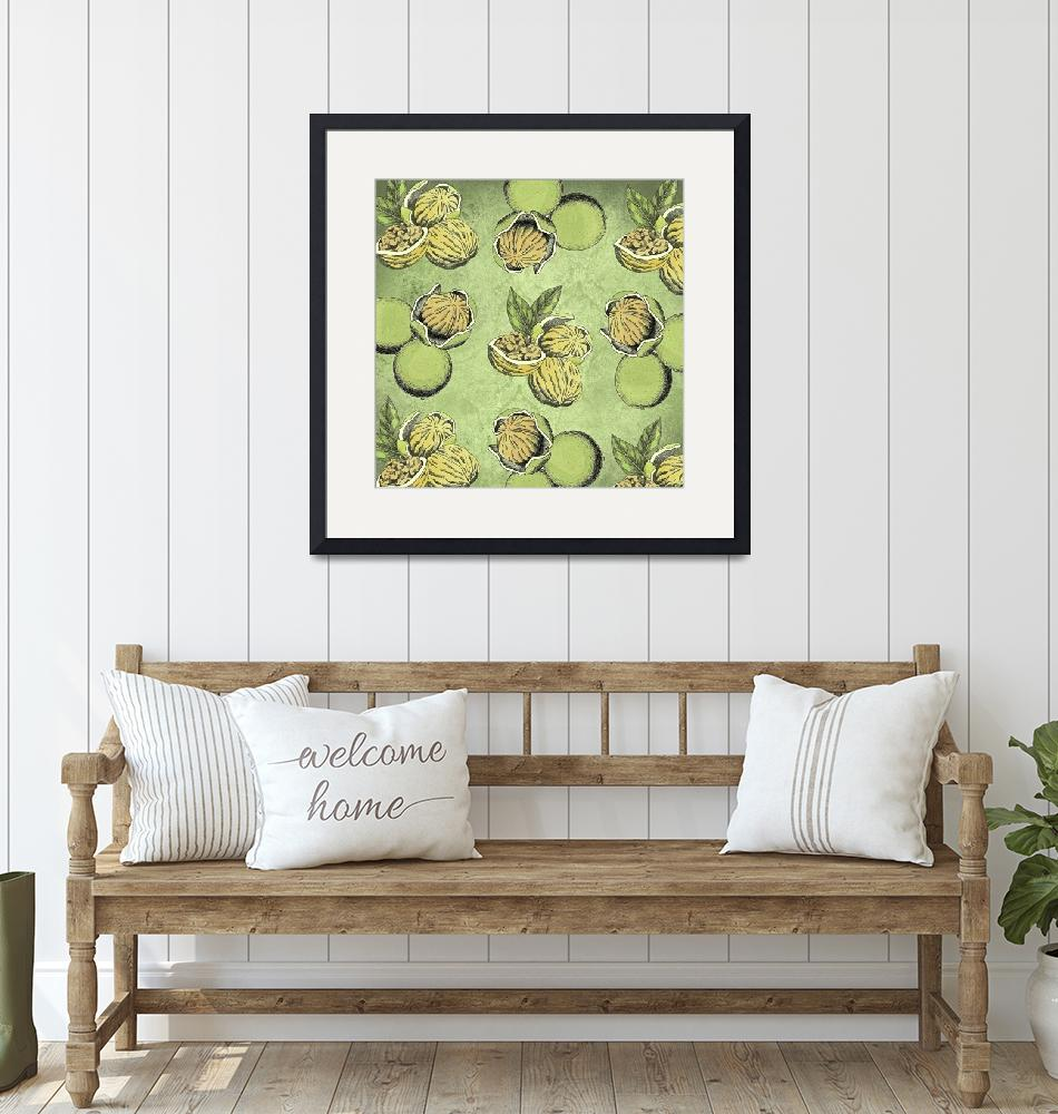 """""""Walnuts Faded Lime Color""""  (2019) by ImageMonkey"""