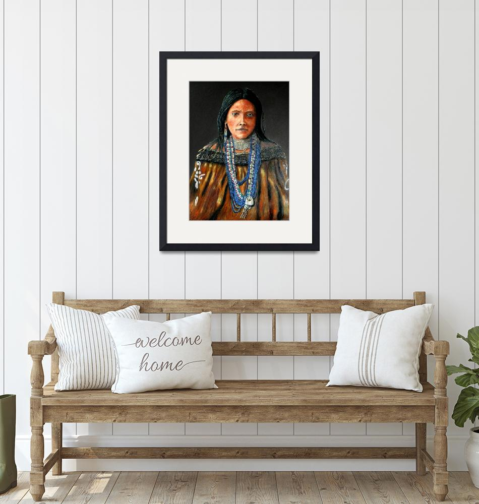 """Hattie Thom-Indian princess""  (2005) by DonGriffithArt"