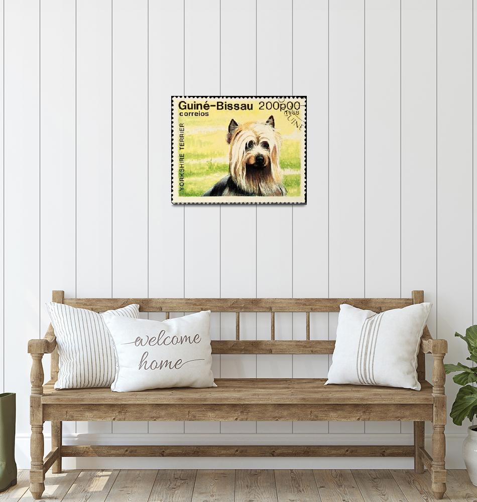 """Yorkshire Terrier dog stamp.""  by FernandoBarozza"