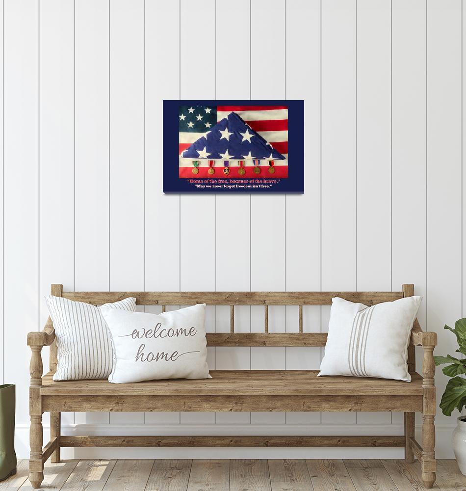 """""""Home of the Free Because of the Brave""""  (2017) by lightningman"""