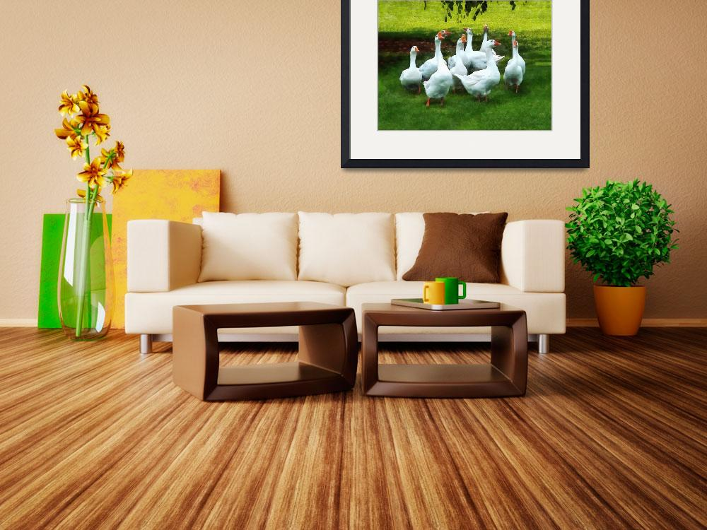 """""""Gaggle of Geese&quot  by susansartgallery"""
