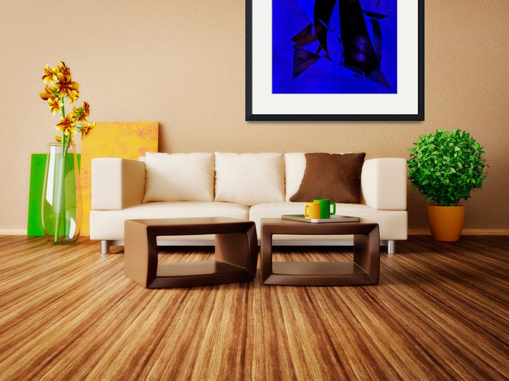"""""""Blue Black Abstract&quot  (2011) by deedemigjorn"""