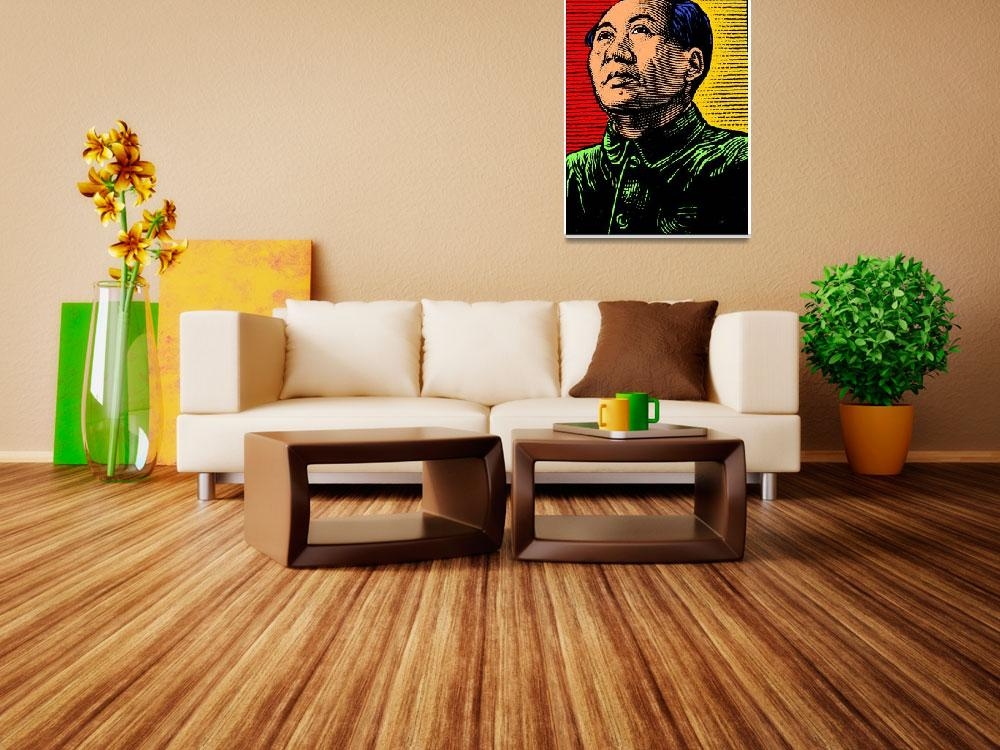 """Mao Zedong (Colour)""  (2016) by thegriffinpassant"