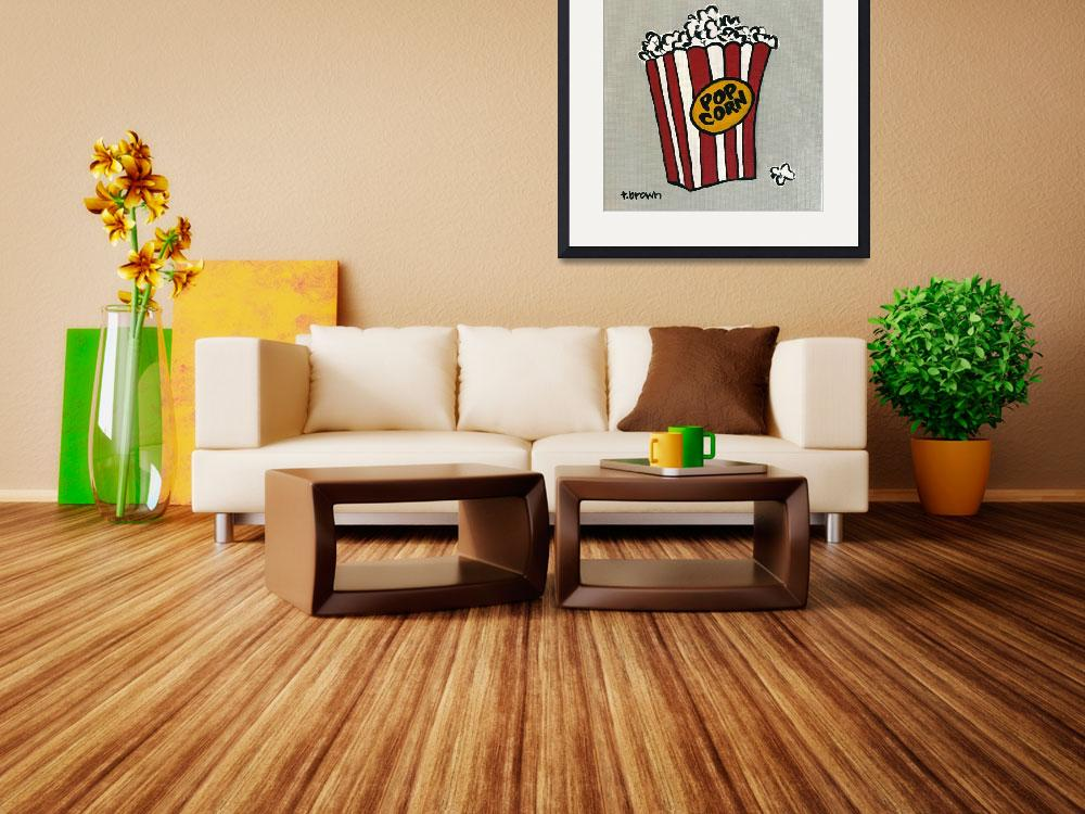 """""""popcorn.&quot  (2017) by traciebrownart"""