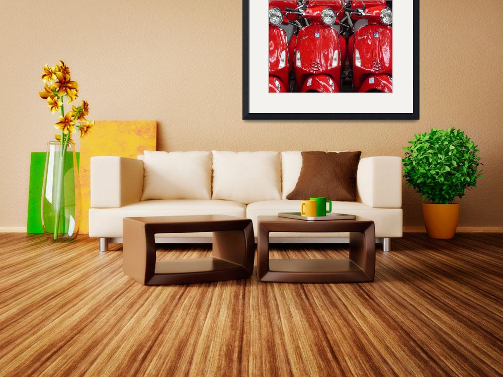 """Red Vespas&quot  (2014) by angelomerluccio"