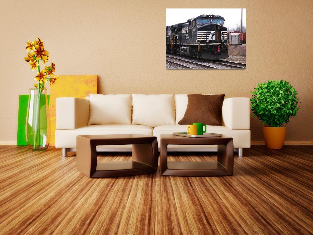 """""""Black Train Engine_20080116_0118 copy&quot  by jeffgriffin"""