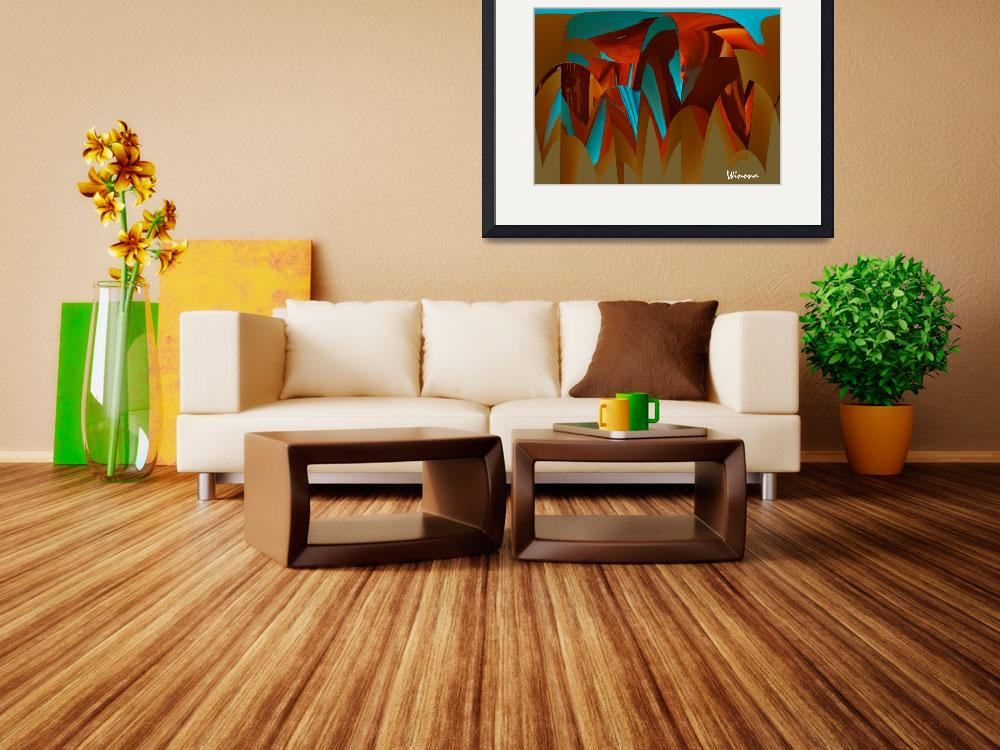 """""""Copper Abstract&quot  (2011) by Attentiongetters"""