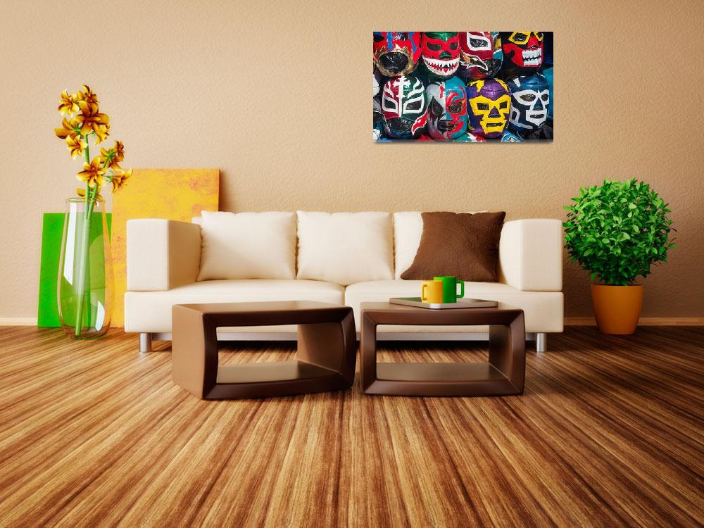 """""""Mexican Wrestler Masks""""  (2011) by sandy"""