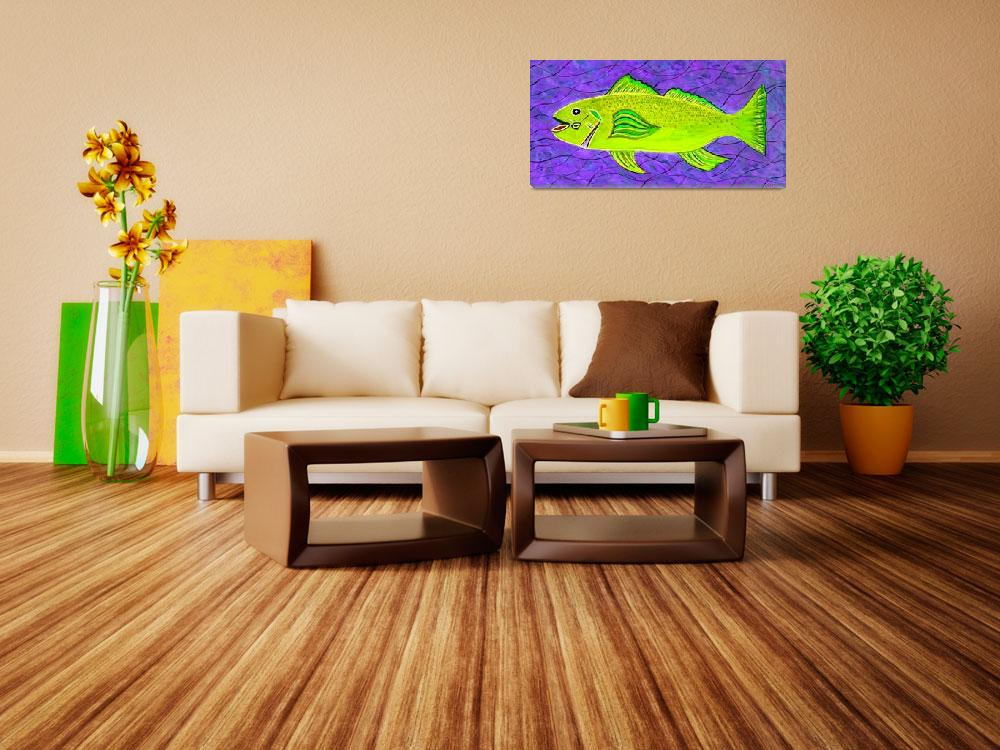 """""""GREEN SEA TROUT&quot  (2017) by mrmizener"""