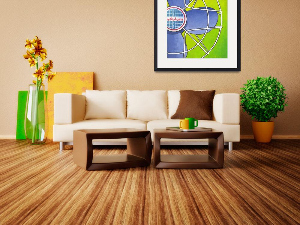 """""""Electrohome Fan - lime&quot  (2012) by Larry-Thor-Hunter"""