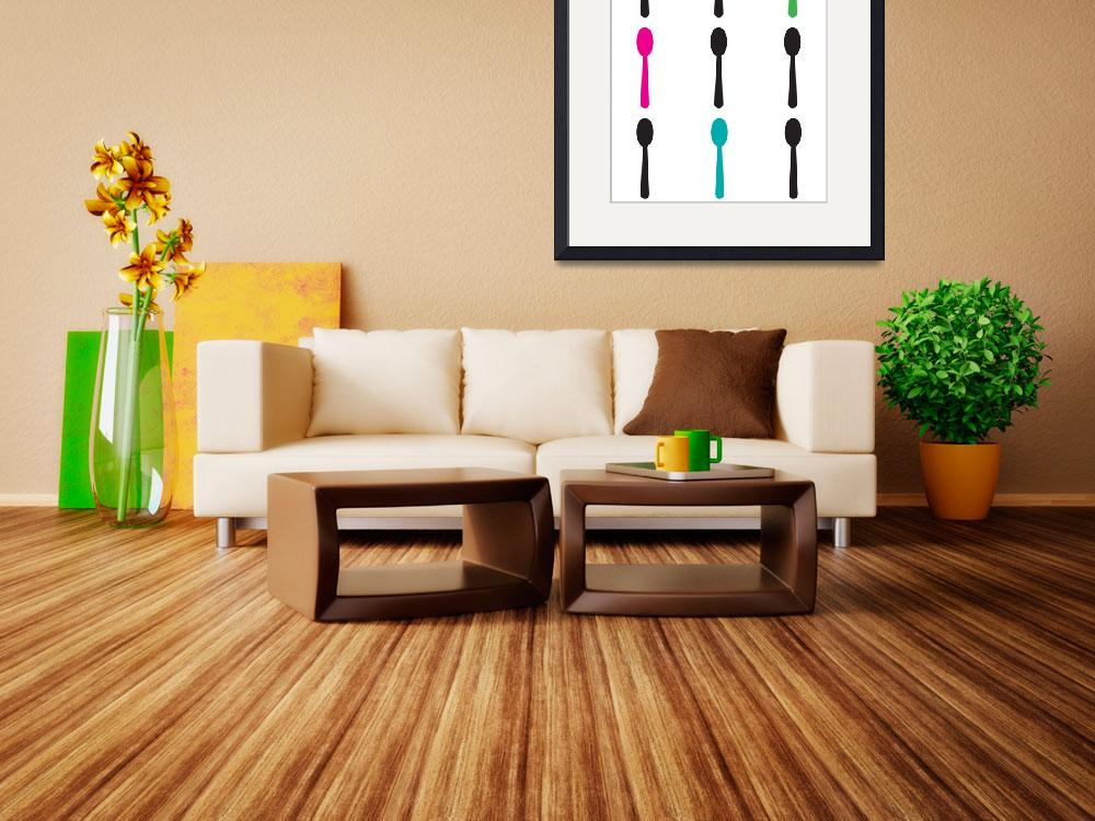 """""""Neon Spoons&quot  (2013) by ValeriesGallery"""