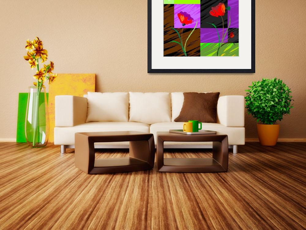 """Digital painting of plant and flowers""  (2009) by digitalpainting"
