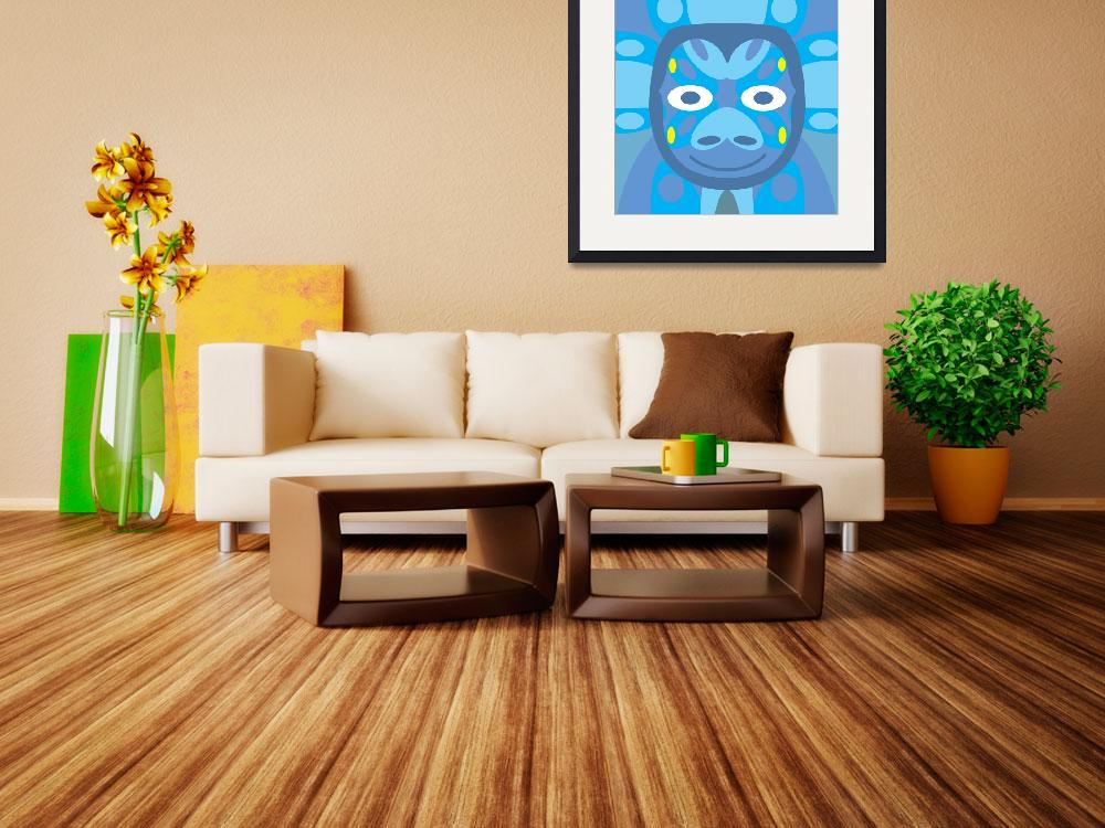 """Animal Mask Abstract Geometric Pattern&quot  (2013) by charker"