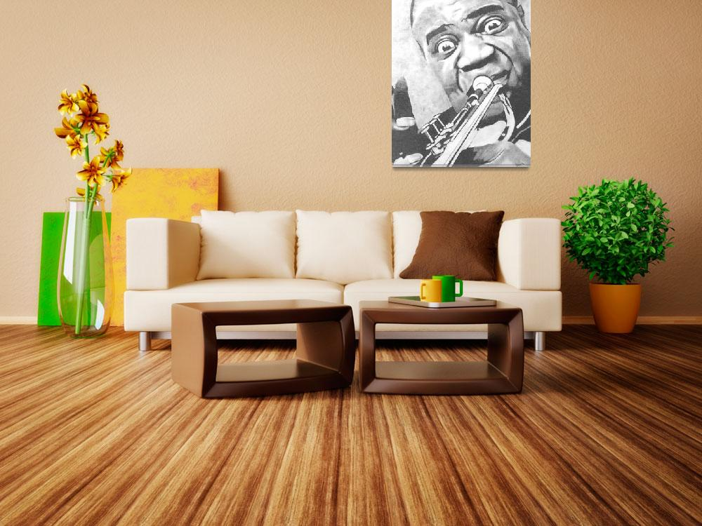 """""""Louis Armstrong&quot  (2006) by ippolito"""