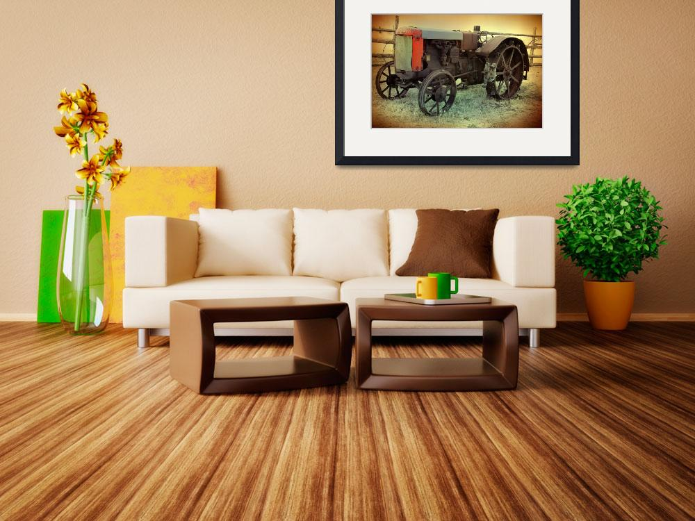 """""""Photo of Antique Tractor Fine Art Print""""  (2010) by SylviaCoomes"""