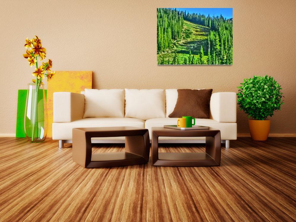 """Arapahoe Basin Colorado vibrant summer landscape s""  by ArtisticAttitude"