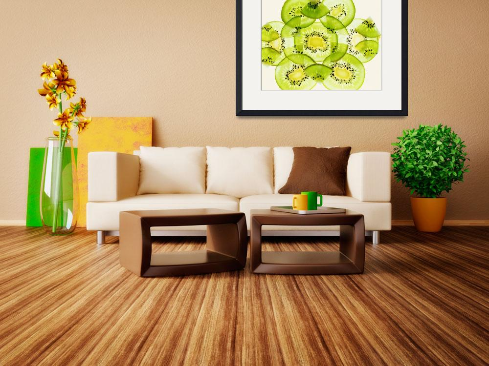 """""""Pieces of kiwi fruit forming a pattern&quot  by Panoramic_Images"""