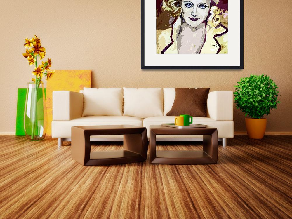 """""""Abstract Carol Lombard&quot  (2013) by GinetteCallaway"""