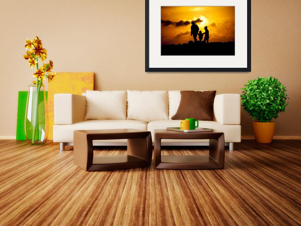 """""""family sunset""""  (2011) by Haniols"""