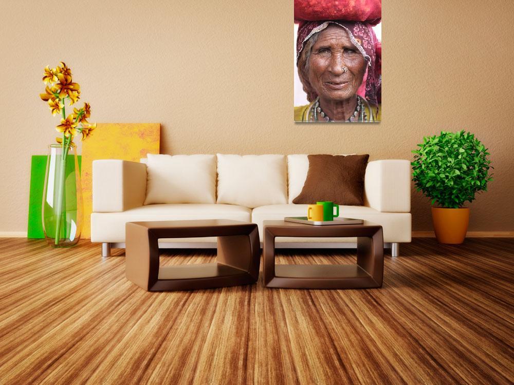 """Old woman in Pushkar&quot  (2011) by markseath"