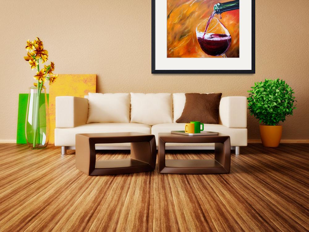 """""""Red Wine Pour&quot  by iconicarts"""