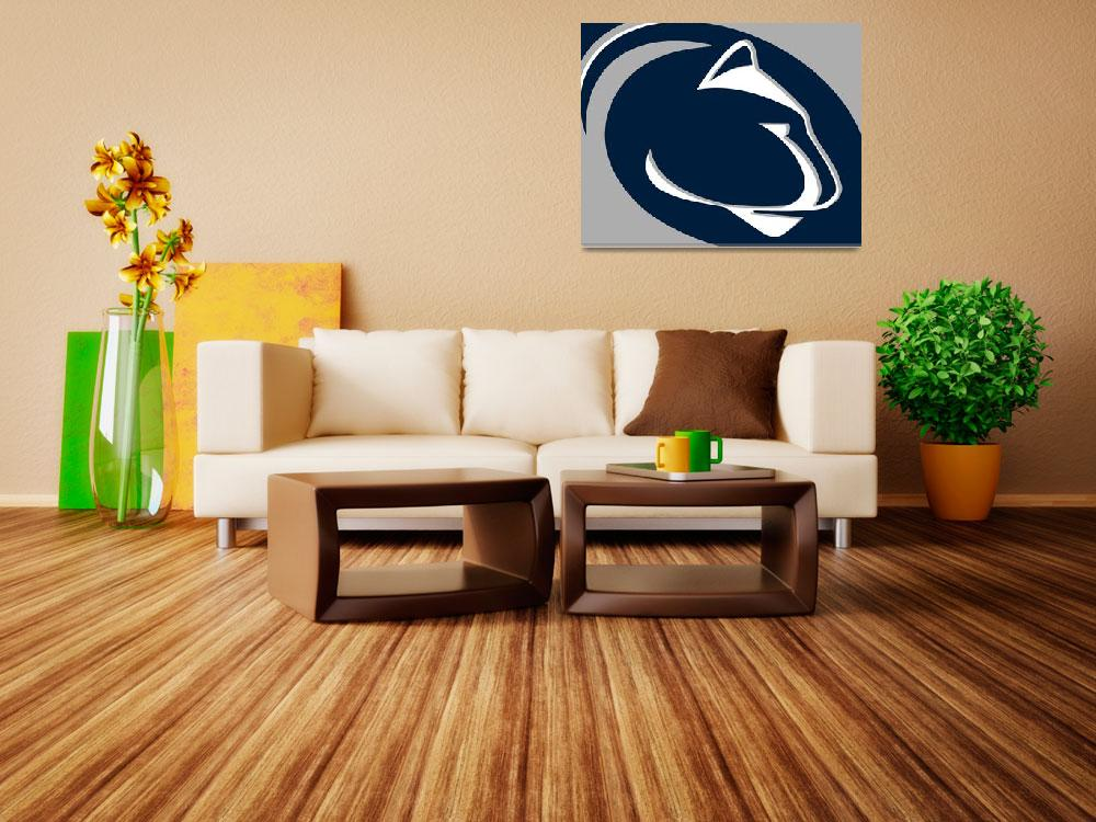 """Penn State Nittany Lions""  (2018) by RubinoFineArt"