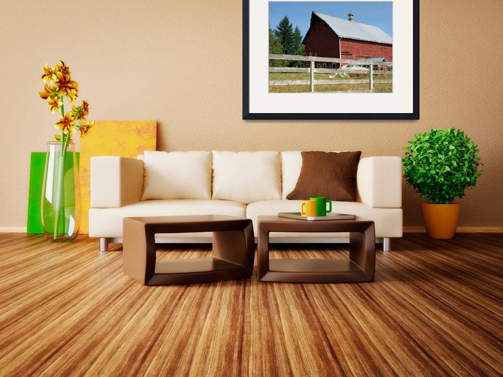 """""""Old Red Barn 2&quot  (2008) by inkandbrushcreations"""