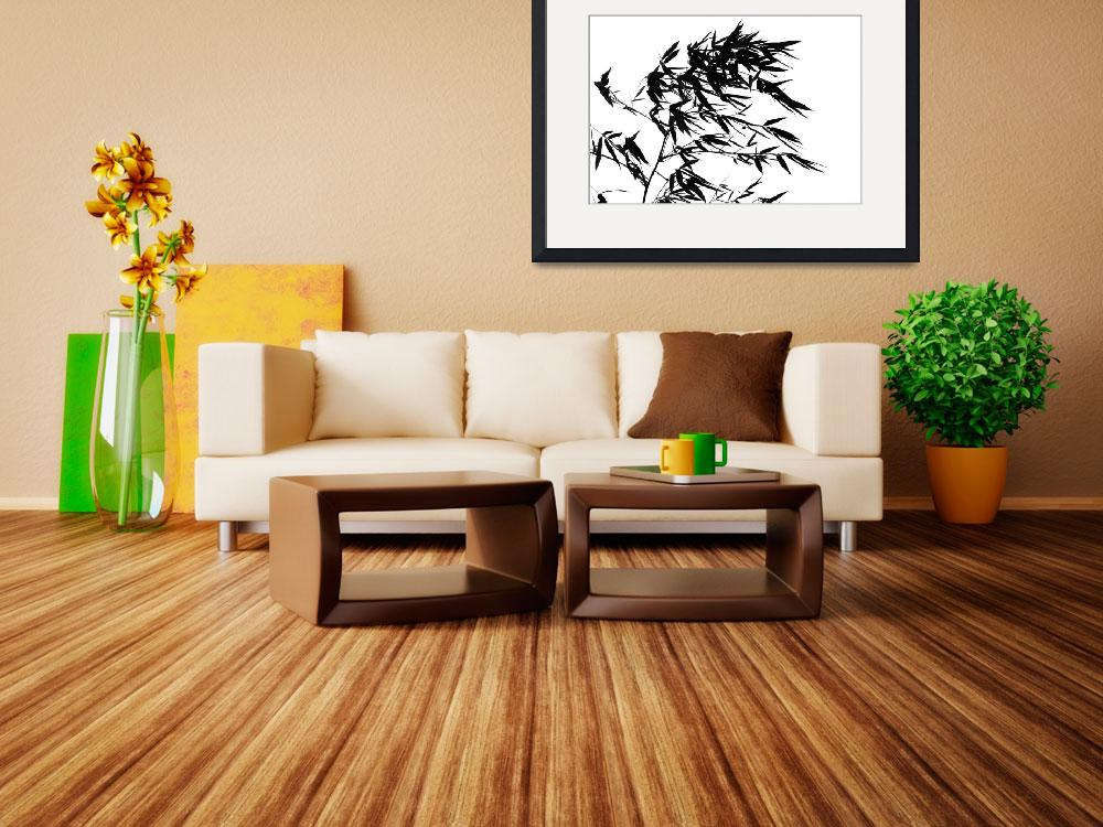 """""""Bamboo Tree Swaying in the Breeze""""  by shiyali"""